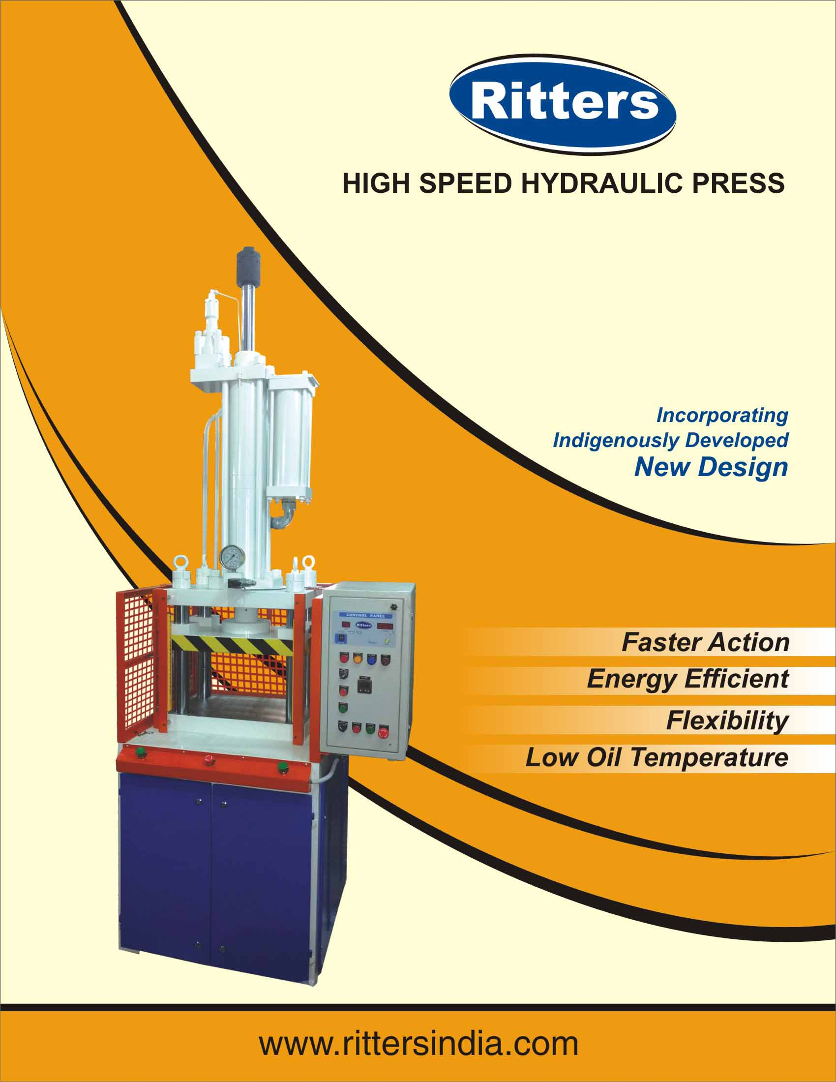 Just Launched New Indigenously & Innovatively Designed High Speed Compact Hydraulic Press