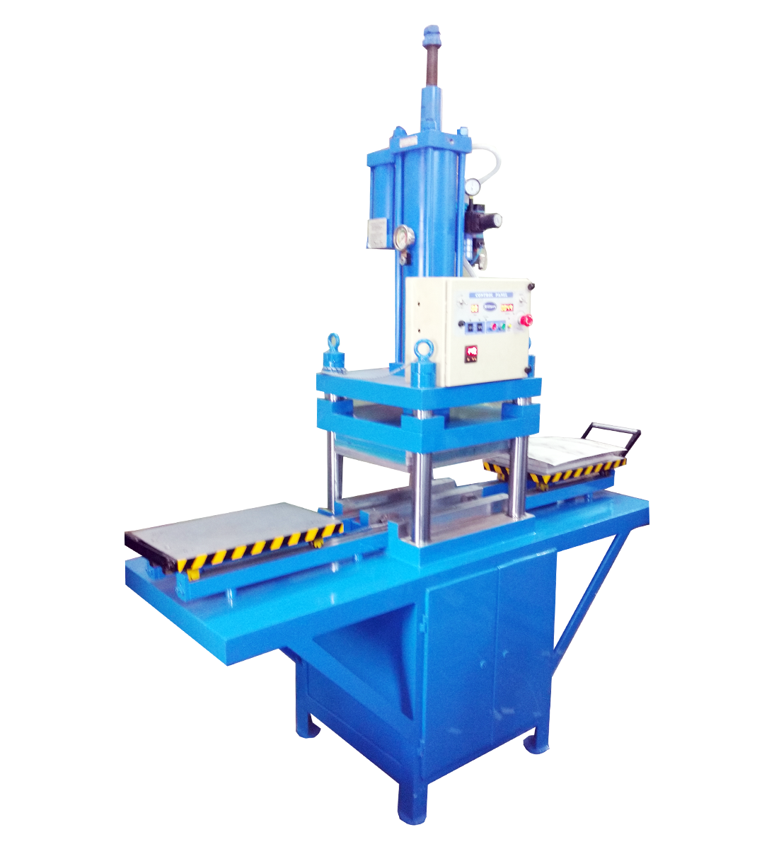 ritters Hydro-Pneumatic Press with Trolleys for Blister Cutting & Sealing