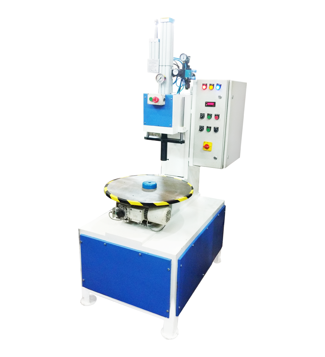 ritters Hydro-Pneumatic Press with 4-Station Indexing Table